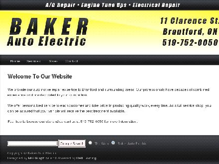 Baker Auto Electric (Btfd) Ltd (519-752-0050) - Website thumbnail - http://www.bakerautoelectric.ca