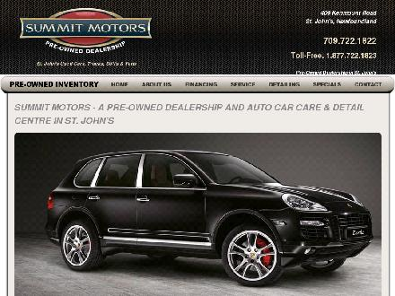 Summit Motors Inc (709-722-1822) - Onglet de site Web - http://www.summitmotors.com