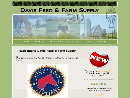 Davis Feed & Farm Supply Ltd (905-584-2880) - Onglet de site Web - http://www.davisfeed.ca