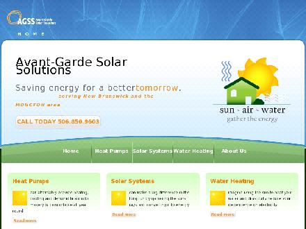 Avant-Garde Solar Solution (506-850-9603) - Website thumbnail - http://www.agss.ca
