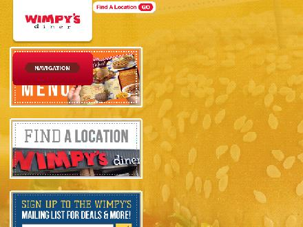 Wimpy's Diner (289-302-0253) - Onglet de site Web - http://www.wimpysdiner.ca