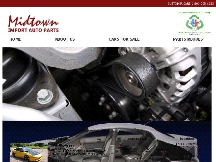 Midtown Import Auto Parts (780-455-6660) - Website thumbnail - http://www.midtownimportautoparts.com