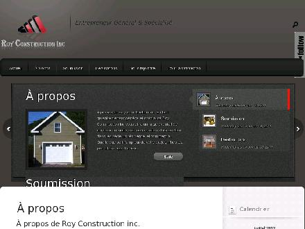 Roy Construction (418-808-9021) - Onglet de site Web - http://www.royconstruction.ca/
