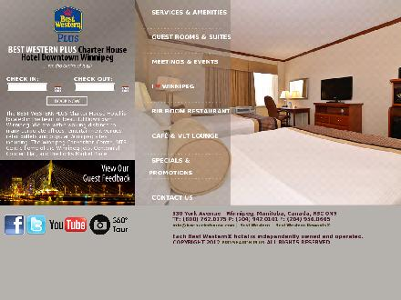 Best Western Charterhouse Hotel Downtown Winnipeg (204-942-0101) - Website thumbnail - http://www.bwcharterhouse.com