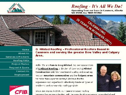Hilstad G Roofing (403-532-4687) - Onglet de site Web - http://www.calgaryroofers.net