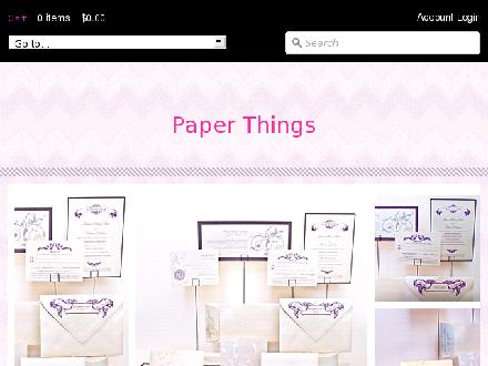 Paper Things (416-922-3500) - Onglet de site Web - http://www.paperthings.ca