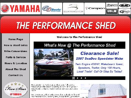 YAMAHA - PERFORMANCE SHED (613-372-1280) - Onglet de site Web - http://www.performanceshed.com/