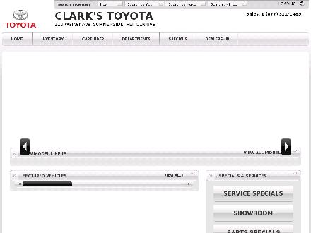 Clark's Toyota (902-436-5800) - Onglet de site Web - http://www.clarkstoyota.ca