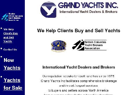 Grand Yachts Inc (604-687-8943) - Website thumbnail - http://www.grandyachts.com