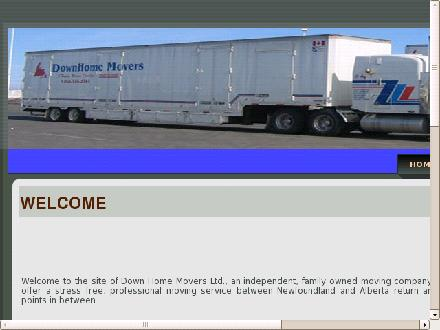 DownHome Movers (1-866-586-2341) - Onglet de site Web - http://www.downhomemovers.com