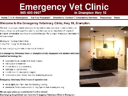 Emergency Veterinary Clinic Highway 10 (905-495-9907) - Onglet de site Web - http://www.emergencyvetbrampton.ca/