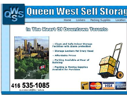 Queen West Self Storage (416-535-1085) - Website thumbnail - http://www.queenweststorage.com