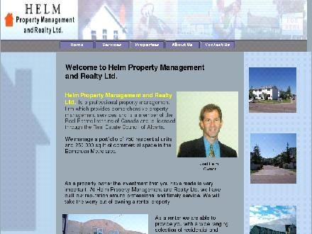 Helm Property Management & Realty Ltd (780-408-3082) - Onglet de site Web - http://www.helmproperty.com