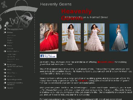 Heavenly Gowns (506-652-9900) - Website thumbnail - http://heavenlygowns.com/