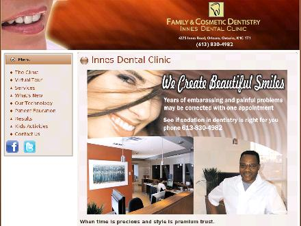 Innes Dental Clinic (613-830-4982) - Website thumbnail - http://www.innesdentalclinic.com