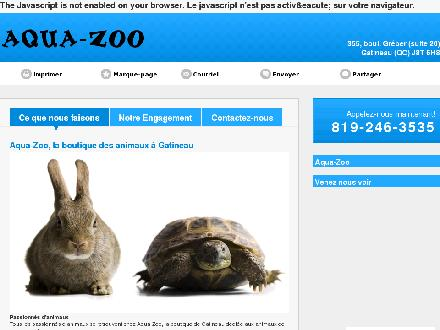 Animalerie Aqua-Zoo (819-246-3535) - Onglet de site Web - http://www.aqua-zoo.ca