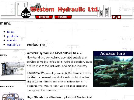 Western Hydraulic And Mechanical Ltd (709-634-5151) - Onglet de site Web - http://www.westernhydraulic.com