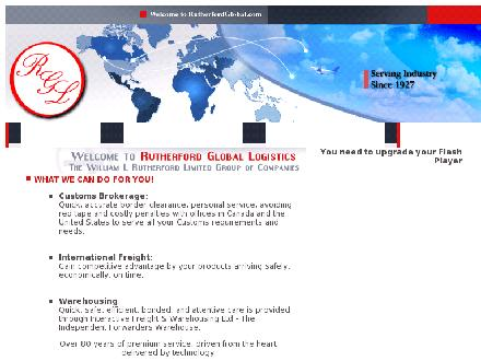 Rutherford Global Logistics (905-673-2222) - Onglet de site Web - http://www.rutherfordglobal.com