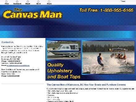 Canvas Man The (250-374-3533) - Onglet de site Web - http://canvasmanworld.com/