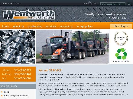 Wentworth Metal Recycling (905-527-1707) - Website thumbnail - http://www.wentworthrecycling.com
