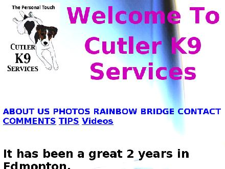 Cutler K9 Services (780-217-6482) - Website thumbnail - http://cutlerk9services.com