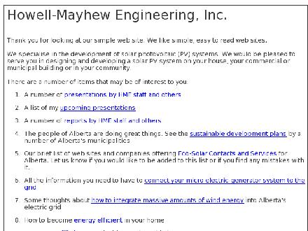 Howell-Mayhew Engineering Inc (780-484-0476) - Onglet de site Web - http://www.hme.ca