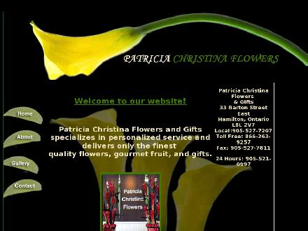 Patricia Christina's Flowers (905-527-7207) - Website thumbnail - http://www.patriciachristinaflowers.com