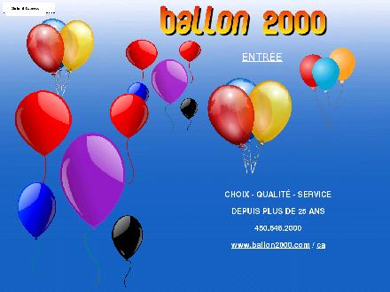 Au Ballon 2000 Plus Inc (450-646-2000) - Website thumbnail - http://www.ballon2000.com