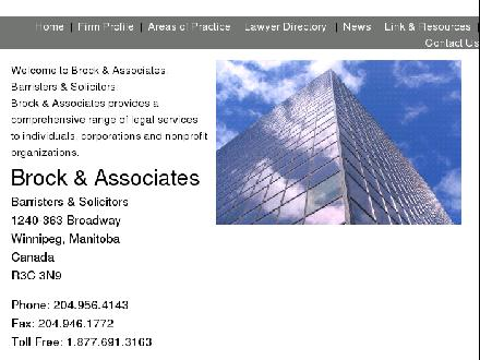 Brock & Associates (204-956-4143) - Onglet de site Web - http://brocklegal.ca/