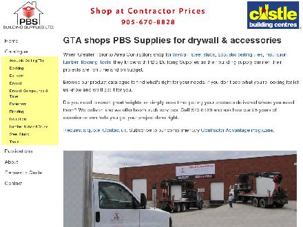 PBS Building Supplies Ltd (905-670-8828) - Onglet de site Web - http://www.pbssupplies.ca