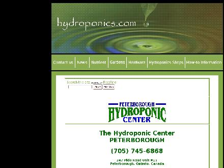 Peterborough Hydroponic Centre (705-745-6868) - Onglet de site Web - http://www.hydroponics.com/hydroshops/canadian_locations/peterborough.html