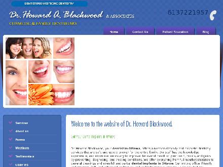 Blackwood H Dr (613-722-1957) - Website thumbnail - http://www.drblackwood.ca