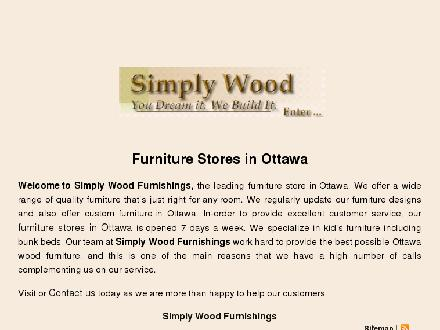 Simply Wood Furnishings (613-722-9993) - Onglet de site Web - http://www.simplywood.com