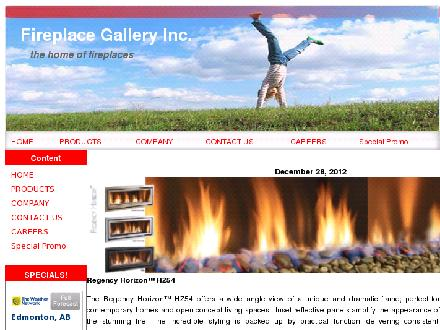 Fireplace Gallery Inc (780-412-1797) - Website thumbnail - http://www.fireplacegallery.com