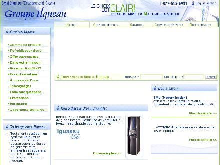 Groupe Ilqueau Inc (450-691-6444) - Onglet de site Web - http://www.rainsoftrivesud.com/