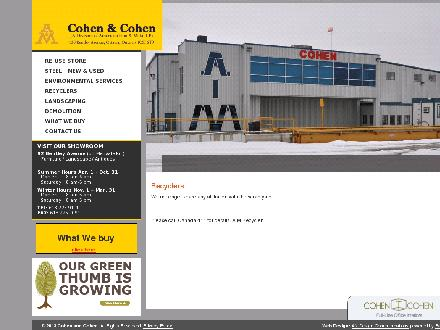 AIM Metal Recycling Centers (613-909-7511) - Onglet de site Web - http://www.cohenandcohen.com/reuse/recyclers