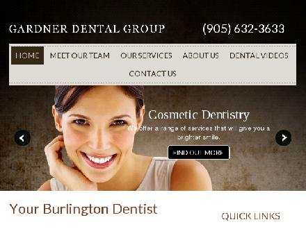 Gardner Dental Group (905-632-3633) - Website thumbnail - http://www.gardnerdentalgroup.com