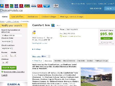 Comfort Inn (519-352-5500) - Onglet de site Web - http://www.choicehotels.ca/cn262
