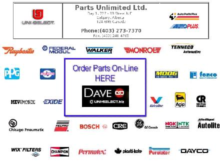 Parts Unlimited/Auto Parts Plus (403-273-7370) - Onglet de site Web - http://www.partsunlimited.ca