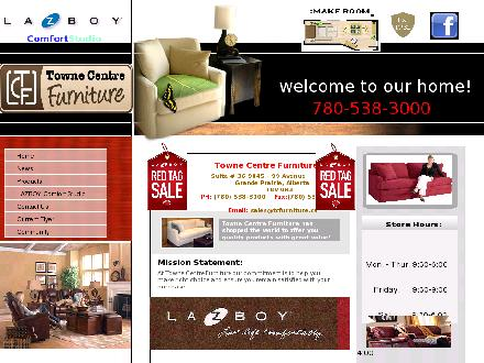 Towne Centre Furniture & Appliances (780-538-3000) - Website thumbnail - http://www.tcfurniture.ca