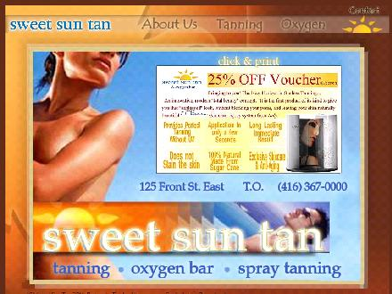 Sweet Sun Tan & Oxygen Bar (416-367-0000) - Website thumbnail - http://www.sweetsuntan.com