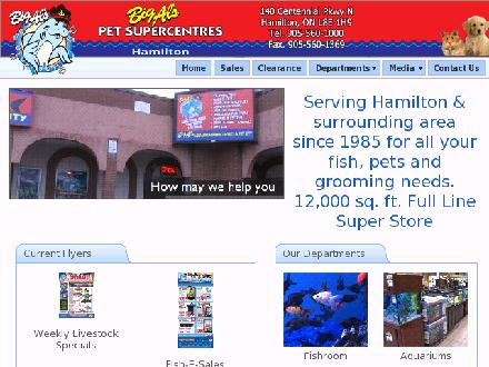 Big Al's Aquarium Supercentres & Pet City (905-560-1000) - Onglet de site Web - http://www.bigalshamilton.ca