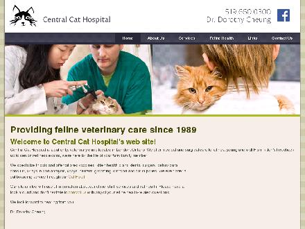 Central Cat Hospital (226-781-9239) - Website thumbnail - http://www.centralcat.ca