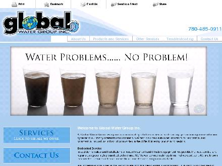 Global Water Group Inc (780-412-1784) - Onglet de site Web - http://www.globalwateronline.com