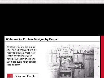Kitchen Designs By Decor (204-944-8222) - Website thumbnail - http://www.kitchendesigns.ca