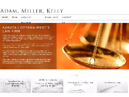 Adam & Miller & Kelly (613-592-6290) - Onglet de site Web - http://www.amk-law.ca