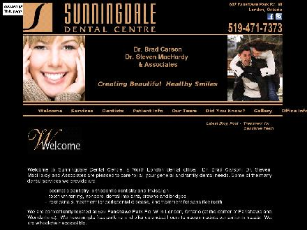 Sunningdale Dental Centre (519-471-7373) - Website thumbnail - http://www.sunningdaledental.com