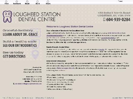 Lougheed Station Dental Centre (604-939-0284) - Website thumbnail - http://lougheedstationdentalcentre.com/
