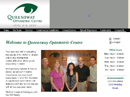 Queensway Optometric Centre (905-848-2020) - Website thumbnail - http://www.queenswayoptometric.com