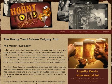 Horny Toad Saloon The (403-212-0304) - Website thumbnail - http://www.hornytoadsaloon.com